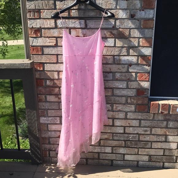 Pimkie Dresses & Skirts - Vintage Pimkie Pink Floral Slip Dress